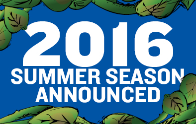 2016 Summer Season Announced