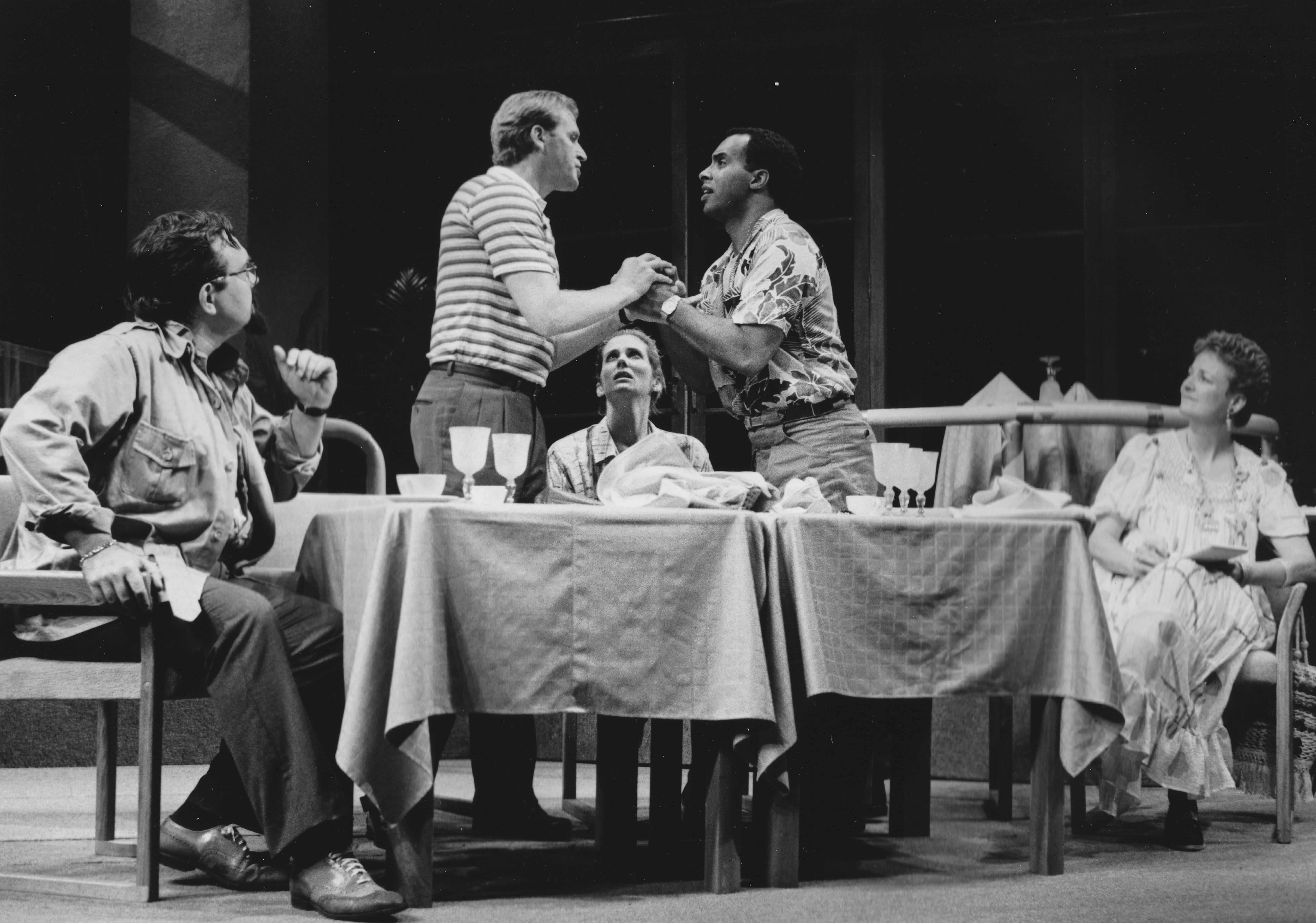 Cast of Beyond Therapy at BTF, 1985. Photo from BTF Archive.
