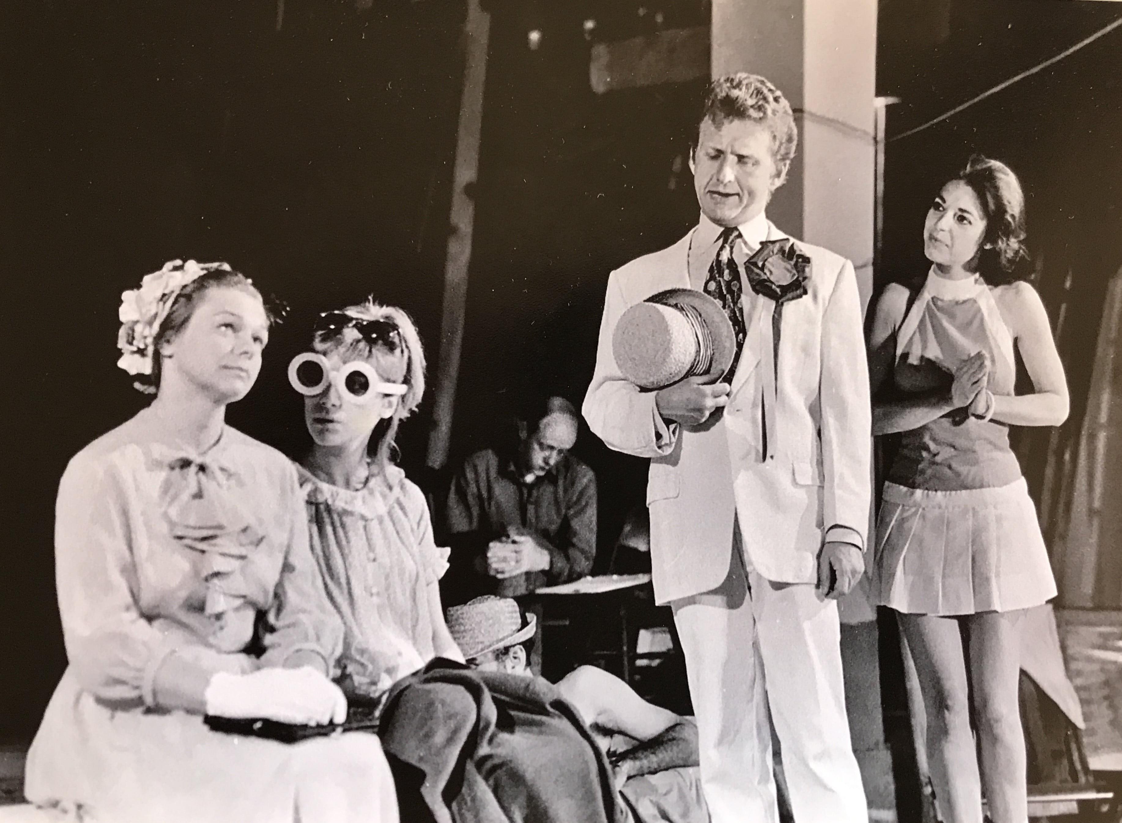 Rehearsal for The Skin of Our Teeth at BTF, 1966. Photo courtesy of the Penn family.