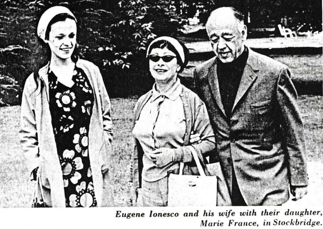 Photograph from unknown newspaper, 1969, from the BTF archives.