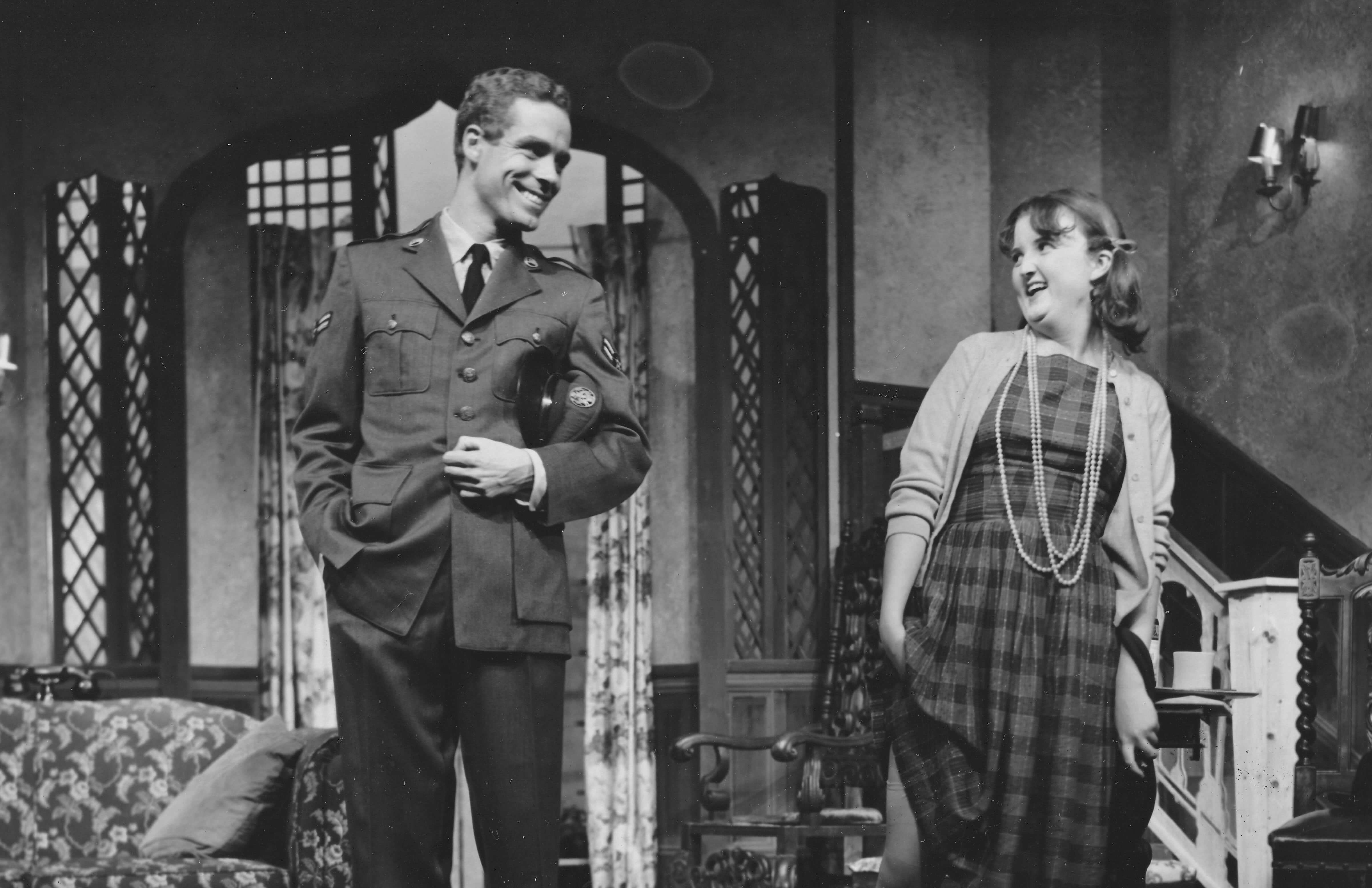 Judy White and David O'Brien in See How They Run, 1962.