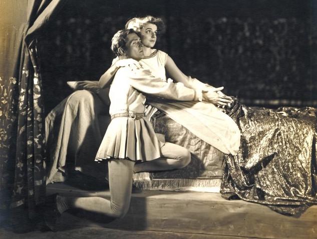 Alexander Kirkland and Edith Barrett in Romeo and Juliet, 1930, Berkshire Playhouse.