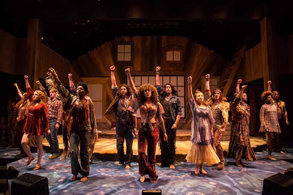 The cast of Hair, 2018. Photo by Emma K. Rothenberg-Ware.