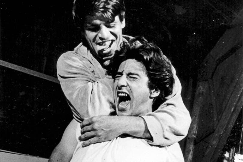 William Devane and Al Pacino in <i>Does a Tiger Wear a Necktie?</i>, 1967.