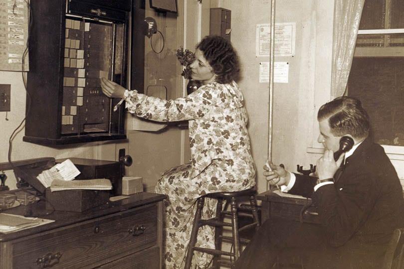 The Berkshire Theatre Festival Box Office in 1931.