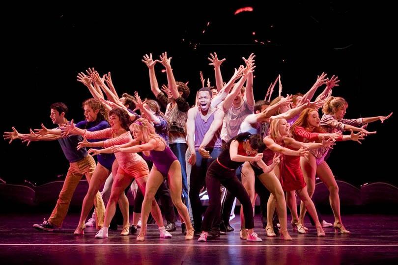 The cast of <i>A Chorus Line</i>, 2012. Photo by Chris Reis.