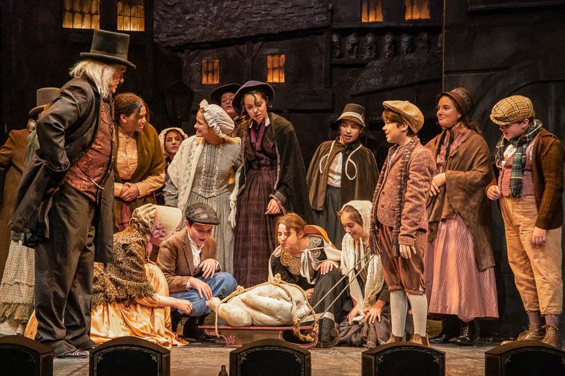 The cast of <em>A Christmas Carol</em>, 2019. Photo by Emma K. Rothenberg-Ware.