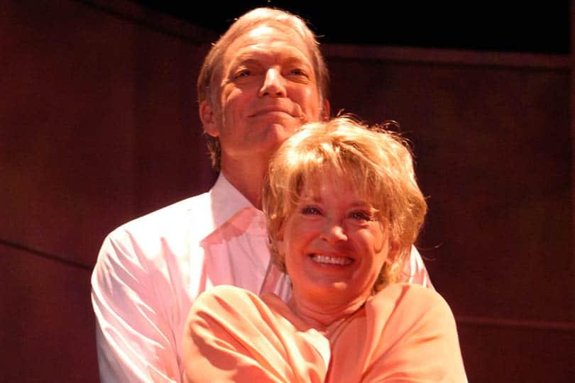 Richard Chamberlain and Lois Nettleton in <i>The Stillborn Lover</i>, 2003. Photo by Kevin Sprague.