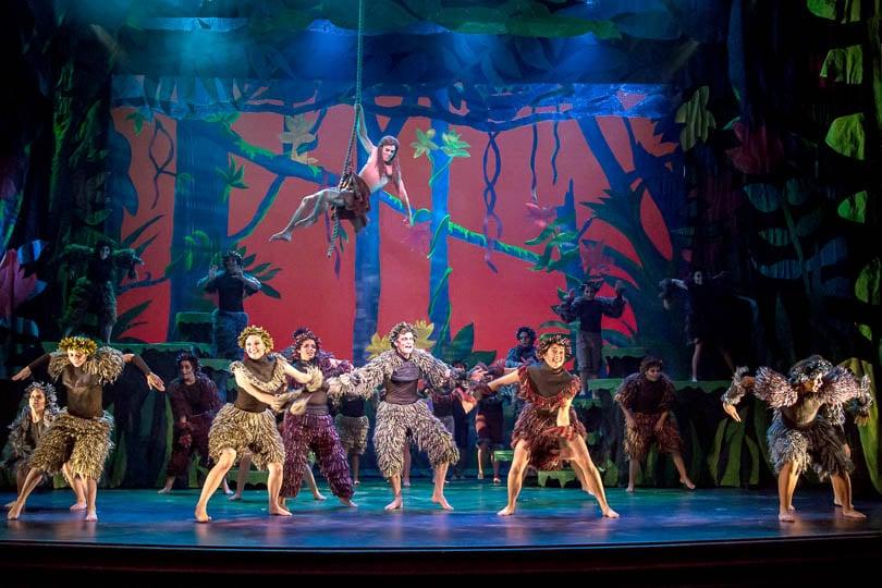 the cast of <i>Disney's Tarzan®</i>, 2018. Photo by Emma K. Rothenberg-Ware.