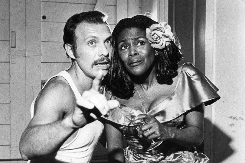 Héctor Elizondo and Cicely Tyson in <i>The Rose Tattoo</i>, 1979.