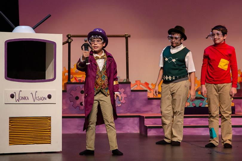 The cast of <i>Willy Wonka Kids</i>, 2019. Photo by Emma K. Rothenberg-Ware.